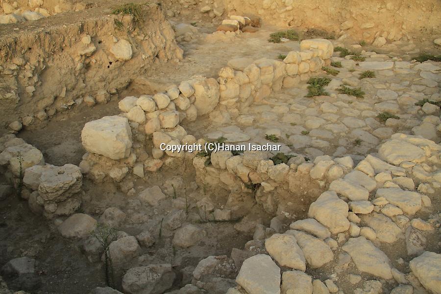 Israel, Shephelah, excavations in Tel Burna, a Canaanite and Israelite site