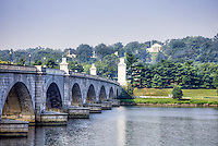 Arlington Cemetery form Memorial Bridge Washington DC