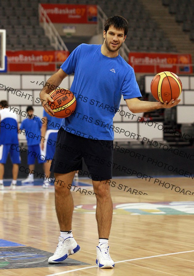 Sport Kosarka Basketball Eurobasket 2007 Spain Spanija European Basketball Championship Evropsko Prvenstvo u Kosarci  trening 4.9.2007. Branko Cvetkovic photo: Pedja Milosavljevic