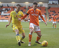 Blackpool's Jordan Thompson  in action with Bristol Rovers' Ollie Clarke<br /> <br /> Photographer Mick Walker/CameraSport<br /> <br /> The EFL Sky Bet League One - Blackpool v Bristol Rovers - Saturday 3rd November 2018 - Bloomfield Road - Blackpool<br /> <br /> World Copyright © 2018 CameraSport. All rights reserved. 43 Linden Ave. Countesthorpe. Leicester. England. LE8 5PG - Tel: +44 (0) 116 277 4147 - admin@camerasport.com - www.camerasport.com