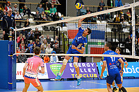 GRONINGEN - Volleybal, Lycurgus - Zwolle, Eredivisie, seizoen 2018-2019, 27-10-2018,  smash van Lycurgus speler Wytze Kooistra