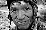 Potosi, Bolivia. Hugo, miner for 20 years. The miners constantly chew coca leaves, helping them cope with the overwhelming strains and heat, and to prevent hunger.