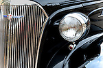 Closeup, Headlights and Grill on a '37 Chevy Coup