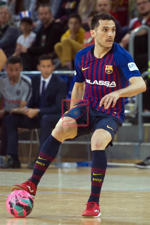 League LNFS 2018/2019 - Game 29.<br /> FC Barcelona Lassa vs Viña Albali Valdepeñas: 5-1.<br /> Dyego Hernique.