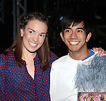 Kara Lindsay, Aaron J. Albano.attending the Actors' Equity Broadway Opening Night Gypsy Robe Ceremony for Aaron J. Albano in.'Newsies - The Musical' at the Nederlander Theatre in NewYork City on 3/29/2012