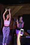Kristen Alderson & Kelly Thiebaud sing at 15th Southwest Florida Soapfest 2014 Charity Weekend with a Bartending/Karaoke get together on May 26, 2104 at Porky's, Marco Island, Florida. (Photo by Sue Coflin/Max Photos)