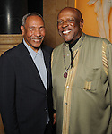 John Guess Jr and Louis Gosset Jr.at a dessert reception for Gossett Jr. and the Anti-Defamation League at Chateau Carnarvon Tuesday Nov. 11, 2014.(Dave Rossman photo)