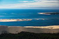France, Gironde (33),Bassin d'Arcachon, la Dune du Pyla  et le banc d'Arguin , vue aérienne //  France, Gironde, Bassin d'Arcachon, The Great Dune of Pyla and The Banc d'Arguin, Arguin bank,an immense sandbank between Cap Ferret and the Great Dune of Pilat, aerial view