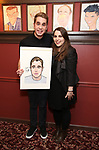 Ben Platt and Beanie Feldstein attends the Ben Platt Sardi's Portrait unveiling at Sardi's on May 30, 2017 in New York City.