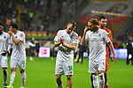 06.10.2019, Commerzbankarena, Frankfurt, GER, 1. FBL, Eintracht Frankfurt vs. SV Werder Bremen, <br /> <br /> DFL REGULATIONS PROHIBIT ANY USE OF PHOTOGRAPHS AS IMAGE SEQUENCES AND/OR QUASI-VIDEO.<br /> <br /> im Bild: Christian Groß / Gross (SV Werder Bremen #36), Michael Lang (SV Werder Bremen #4)<br /> <br /> Foto © nordphoto / Fabisch
