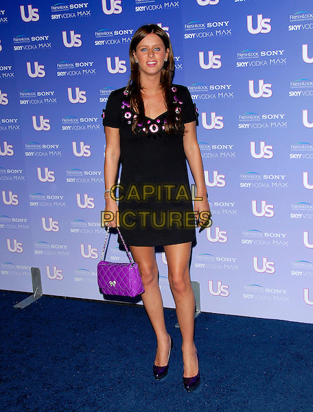 NICKY HILTON .Attends The US Weekly Magazine Hot Hollywood .Fresh 15 Party, held at Area in Los Angeles, .California, USA, September 21st 2006..full length purple and black print patterned buttons dress bag quilted.Ref: DVS.www.capitalpictures.com.sales@capitalpictures.com.©Debbie VanStory/Capital Pictures