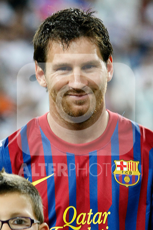 FC Barcelona's Leo Messi during Spanish Supercup 1st match.August 14,2011. (ALTERPHOTOS/Acero)