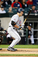 August 7, 2009:  Designated Hitter Travis Hafner (48) of the Cleveland Indians at bat during a game vs. the Chicago White Sox at U.S. Cellular Field in Chicago, IL.  The Indians defeated the White Sox 6-2.  Photo By Mike Janes/Four Seam Images