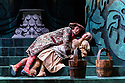 London, UK. 07.03.2017. English Touring Opera presents PATIENCE, by Gilbert & Sullivan, at the Hackney Empire, prior to its UK tour. Picture shows: Bradley Travis (Bunthorne) and Lauren Zolezzi (Patience).  Photograph © Jane Hobson.