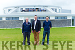 County Board Chairman Tim Murphy gives Gene Moriarty and Tommy Cronin Fossa a tour of Kerry's Centre of Excellence in Fossa on Friday