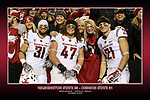 Fan shots from the Cougars Pac-12 Conference big comeback road victory over the Oregon State Beavers, 35-31, on October 29, 2016, at Reser Stadium in Corvallis, Oregon.