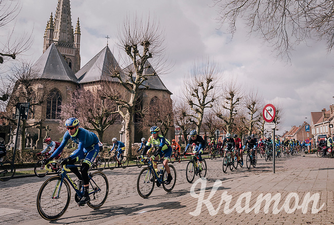 Kenny Dehaes (BEL/WB Aqua Protect-Veranclassic) & friends shredding through town<br /> <br /> Driedaagse Brugge-De Panne 2018<br /> Bruges - De Panne (202km)