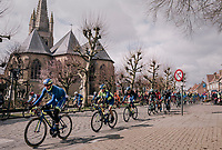 Kenny Dehaes (BEL/WB Aqua Protect-Veranclassic) &amp; friends shredding through town<br /> <br /> Driedaagse Brugge-De Panne 2018<br /> Bruges - De Panne (202km)