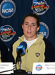 2 December 2006: Notre Dame's Jen Buczkowski. The University of Notre Dame Fighting Irish held a press conference at SAS Stadium in Cary, North Carolina one day before playing in the NCAA Division I Women's College Cup championship game.