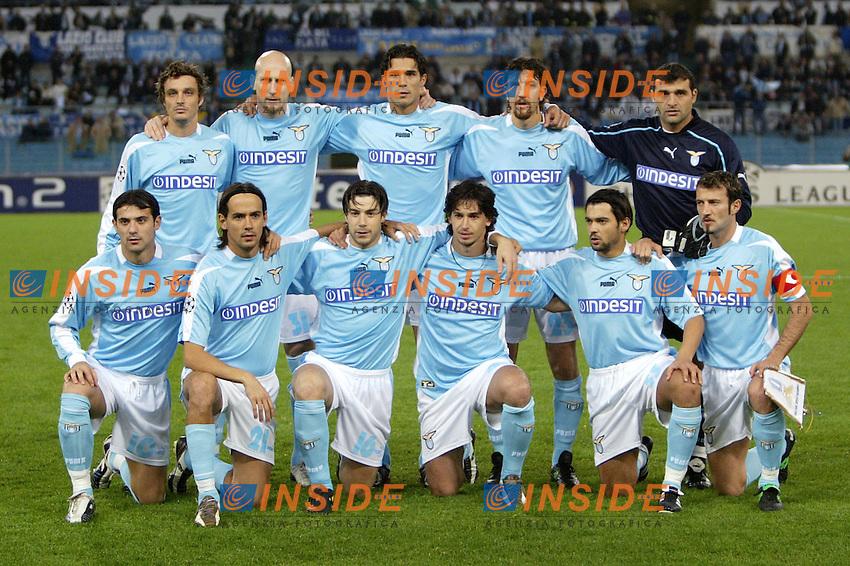 ROMA 26/11/2003 CHAMPIONS LEAGUE<br /> LAZIO BESIKTAS <br /> Lazio<br /> FOTO ANDREA STACCIOLI Insidefoto