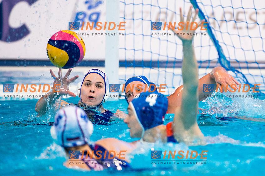 8 SIMANOVICH Anastasia RUS<br /> LEN European Water Polo Championships 2016<br /> Women RUS - NED Russia (White) Vs Netherlands (Blue)<br /> Kombank Arena, Belgrade, Serbia <br /> Day07  16-01-2016<br /> Photo P. Mesiano/Insidefoto/Deepbluemedia