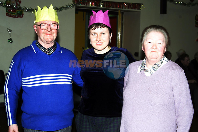 John Monaghan, Margret Carpenter and Ms. Duff all from Ardee at the Ardee day care centres' christmass luncheon.