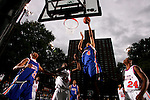 Anthony Randolph (4) goes up for a layup during the Elite 24 Hoops Classic game on September 1, 2006 held at Rucker Park in New York, New York.  The game brought together the top 24 high school basketball players in the country regardless of class or sneaker affiliation.