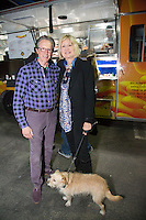 Karen Lock and Peter Lock attend Punches for Puppies: Mowgli Rescue's Fundraiser Event at Wild Card West Boxing Gym & Wildfox Couture (Photo by Tony Ducret/Guest of A Guest)