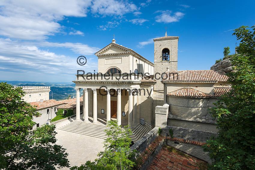 Republic of San Marino, San Marino City: The Basilica di San Marino   Republik San Marino, San Marino Stadt: Basilica del Santo