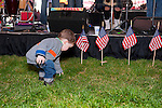 Fund raiser for firefighter Ray Pfeifer on Saturday, March 31, 2012, at East Meadow Firefighters Benevolent Hall, New York, USA. Rocklyn County toddler Brian Lavan attended with his mother Carolyn and father, who's a firefighter with Ladder 11 Compnay, Manhattan.