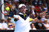 10th January 2018, ASB Tennis Centre, Auckland, New Zealand; ASB Classic, ATP Mens Tennis;  Roberto Bautista Agut (ESP) during the ASB Classic ATP Men's Tournament Day 3