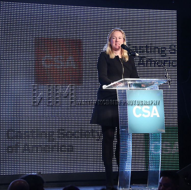 kathleen Marshall pays tribute to Rob Marshall honored with the New York Apple Award during the 30th Annual Artios Awards Presentation at 42 WEST on January 22, 2015 in New York City.