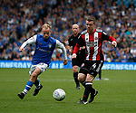 Barry Bannan of Sheffield Wednesday and John Fleck of Sheffield Utd  during the Championship match at the Hillsborough Stadium, Sheffield. Picture date 24th September 2017. Picture credit should read: Simon Bellis/Sportimage