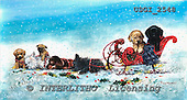 GIORDANO, CHRISTMAS ANIMALS, WEIHNACHTEN TIERE, NAVIDAD ANIMALES, paintings+++++,USGI2548,#XA#