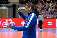 GRONINGEN - Volleybal, Abiant Lycurgus - Noriko Maaseik, Alfa College , Champions League , seizoen 2017-2018, 08-11-2017 Lycurgus coach Arjan Taaij