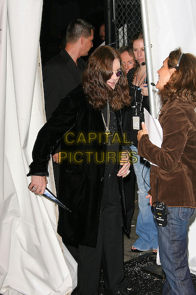 "OZZY OSBOURNE.At Spike TV's ""Scream Awards 2006"", Press Room,. at the Pantages Theatre, Hollywood, California, USA, .7th October 2006..half length 3/4 black funny.Ref: ADM/ZL.www.capitalpictures.com.sales@capitalpictures.com.©Zach Lipp/AdMedia/Capital Pictures."