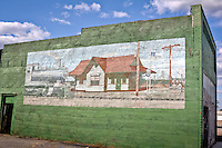 Murals painted on buildings along Route 66 in Quapaw Oklahoma.