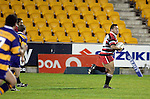 Prop Simon Lemalu out paces the Bay defence on his big second half  run.  Counties Manukau Steelers vs Bay of Plenty Steamers warm up game played at Mt Smart Stadium on 14th of July 2006. Counties Manukau won 25 - 20.