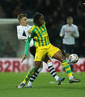 Preston North End's Brad Potts in action with West Bromwich Albion's Romaine Sawyers <br /> <br /> Photographer Mick Walker/CameraSport<br /> <br /> The EFL Sky Bet Championship - Preston North End v West Bromwich Albion - Monday 2nd December 2019 - Deepdale Stadium - Preston<br /> <br /> World Copyright © 2019 CameraSport. All rights reserved. 43 Linden Ave. Countesthorpe. Leicester. England. LE8 5PG - Tel: +44 (0) 116 277 4147 - admin@camerasport.com - www.camerasport.com