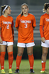 15 October 2016: Virginia's Megan Reid. The Duke University Blue Devils hosted the University of Virginia Cavaliers at Koskinen Stadium in Durham, North Carolina in a 2016 NCAA Division I Women's Soccer match. Duke won the game 1-0.