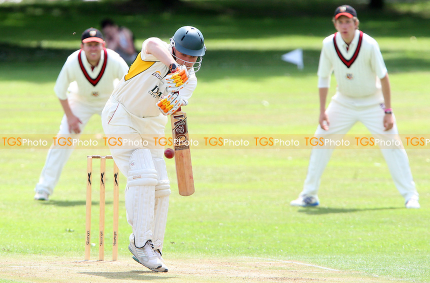 R Brabner of Harold Wood in aciton - Harold Wood Cricket Club vs Hadleigh & Hundersley Cricket Club, Essex Cricket League at Harold Wood - 25/07/09 - MANDATORY CREDIT: Rob Newell/TGSPHOTO - Self billing applies where appropriate - 0845 094 6026 - contact@tgsphoto.co.uk - NO UNPAID USE.