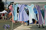 Summer dresses, Vashon Island Earthfair, Seattle area, Washington State,