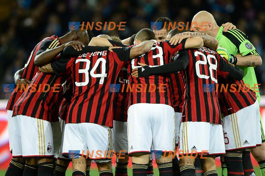 Giocatori Milan<br /> Napoli 08-02-2014 Stadio San Paolo - Football 2013/2014 Serie A. Napoli - Milan Foto Insidefoto