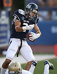 Nevada receiver Richy Turner celebrates in the end zone after scoring in the first half of a college football game against UC Davis, in Reno, Nev., on Saturday, Sept. 7, 2013. (AP Photo/Cathleen Allison)