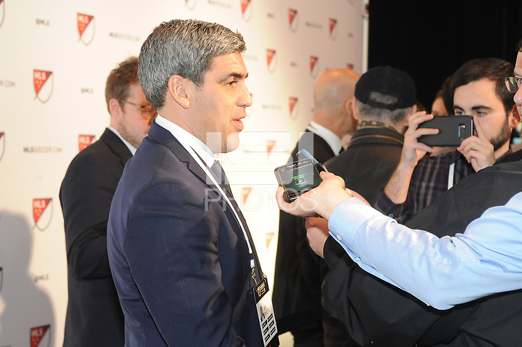 Philadelphia, PA - Thursday January 19, 2018: Claudio Reyna during the 2018 MLS SuperDraft at the Pennsylvania Convention Center.