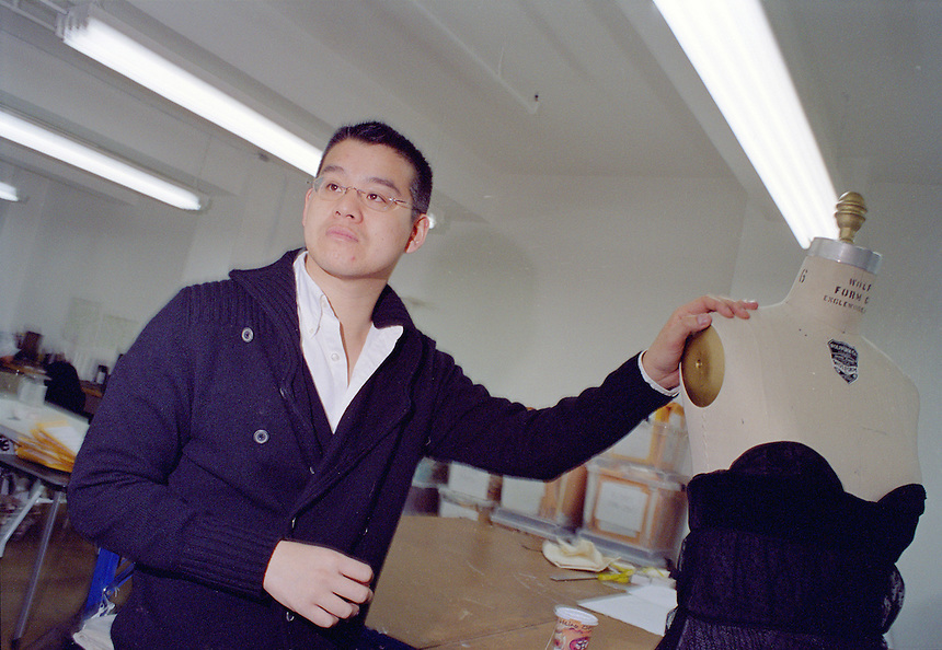 designer Peter Som in his NYC design studio, 2007