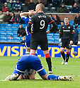 20/11/2010   Copyright  Pic : James Stewart.sct_jsp016_kilmarnock_v_rangers  .:: KENNY MILLER CELEBRATES AFTER HE SCORES THE THIRD AS MANUEL PASCALI BURIES HIS HEAD IN THE GORUND ::.James Stewart Photography 19 Carronlea Drive, Falkirk. FK2 8DN      Vat Reg No. 607 6932 25.Telephone      : +44 (0)1324 570291 .Mobile              : +44 (0)7721 416997.E-mail  :  jim@jspa.co.uk.If you require further information then contact Jim Stewart on any of the numbers above.........