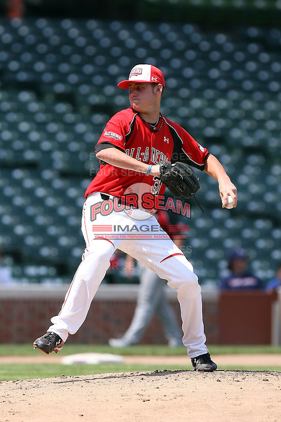 August 18 2008:  Tyler Matzek (31) of the Team One team during the 2008 Under Armour All-American Game at Wrigley Field in Chicago, IL.  Photo by:  Mike Janes/Four Seam Images