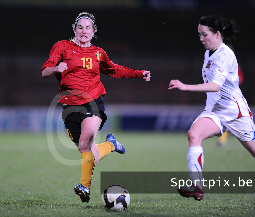 Belgium - Czech Republic : Kristien Elsen (links).foto DAVID CATRY / Vrouwenteam.be