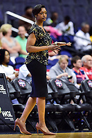 Washington, DC - June 15, 2018: Chicago Sky head coach Amber Stocks on the sideline during game between the Washington Mystics and Chicago Sky at the Capital One Arena in Washington, DC. (Photo by Phil Peters/Media Images International)
